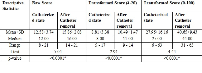 Quality of life of young male catheterized patients